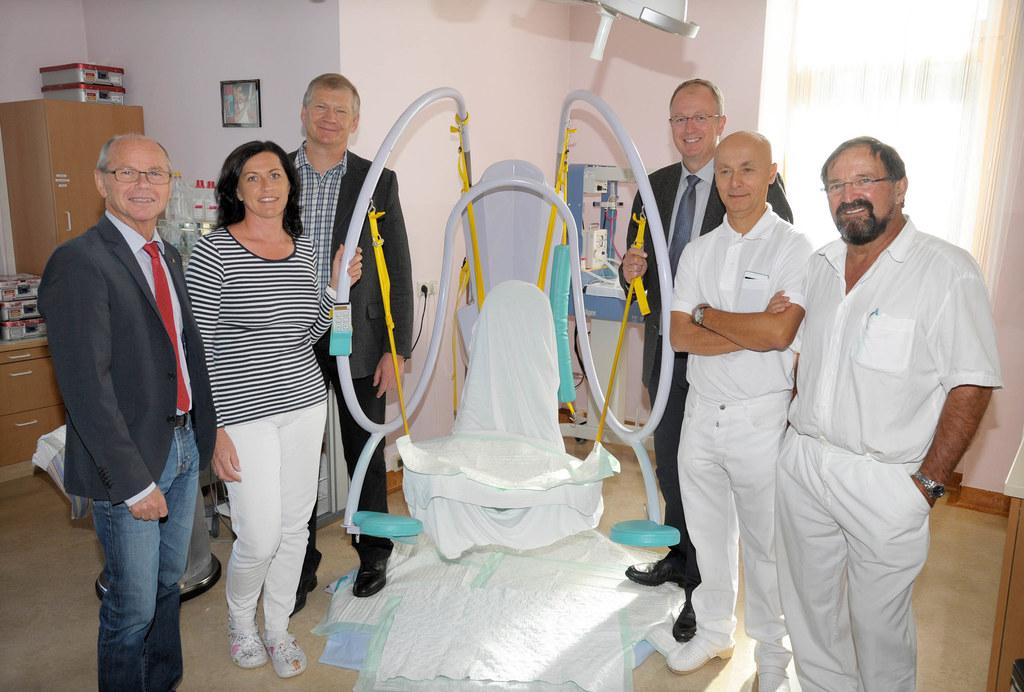 LH-Stv. Dr. Christian Stöckl, Hebamme Anita Neumann, ÄD Prim. Dr. Vaclav Ruzicka..