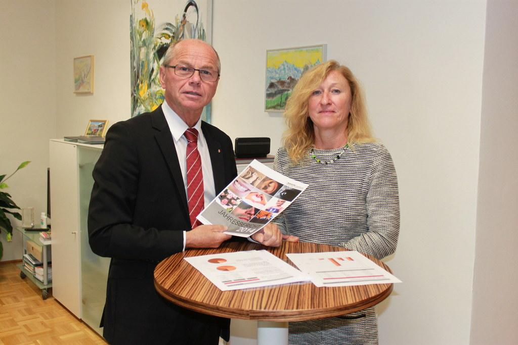 Landeshauptmann-Stellvertreter Mag. Dr. Christian Stöckl und Maritta Teufl-Bruck..