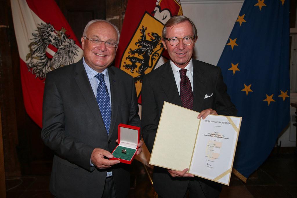 Dr. Franz Schausberger und Landeshauptmann Dr. Wilfried Haslauer