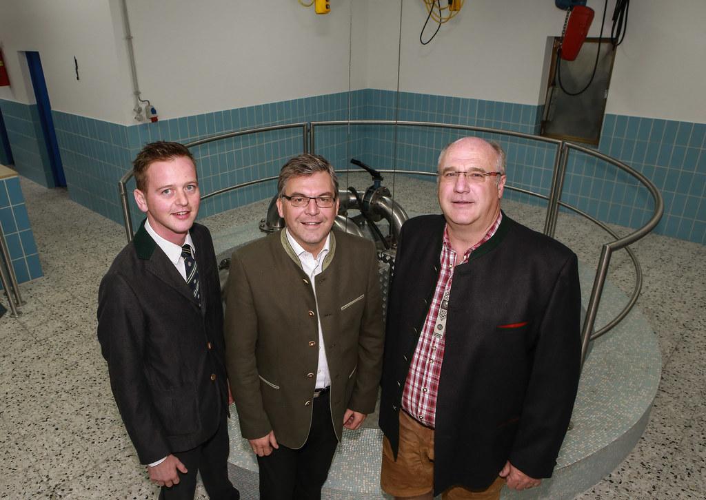 Bgm. Alois Hasenauer , LR DI Dr. Josef Schwaiger und Helmut Wimreiter (Obmann Wa..