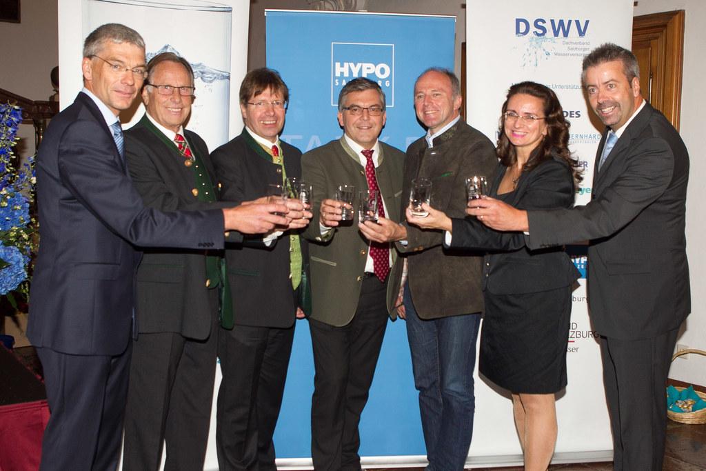 Ing. Wilfried Konrad ( GS DVB Sbg. Wasserwirtschaft), Johann Fuschlberger ( Grün..