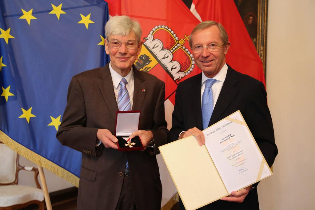 Hofrat Mag. Heinz Maier und LH Dr. Wilfried Haslauer
