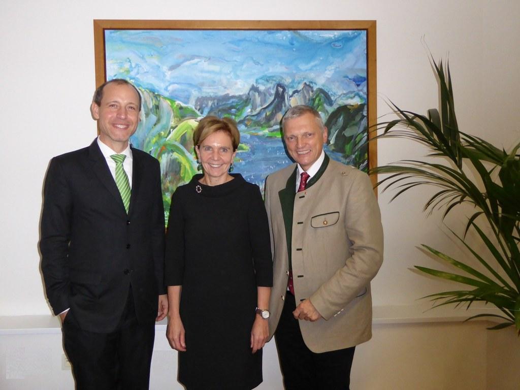 Dr. Jörg Wojahn, Landtagspräsidentin Dr. Brigitta Pallauf, LAbg. Dr. Josef Schöc..