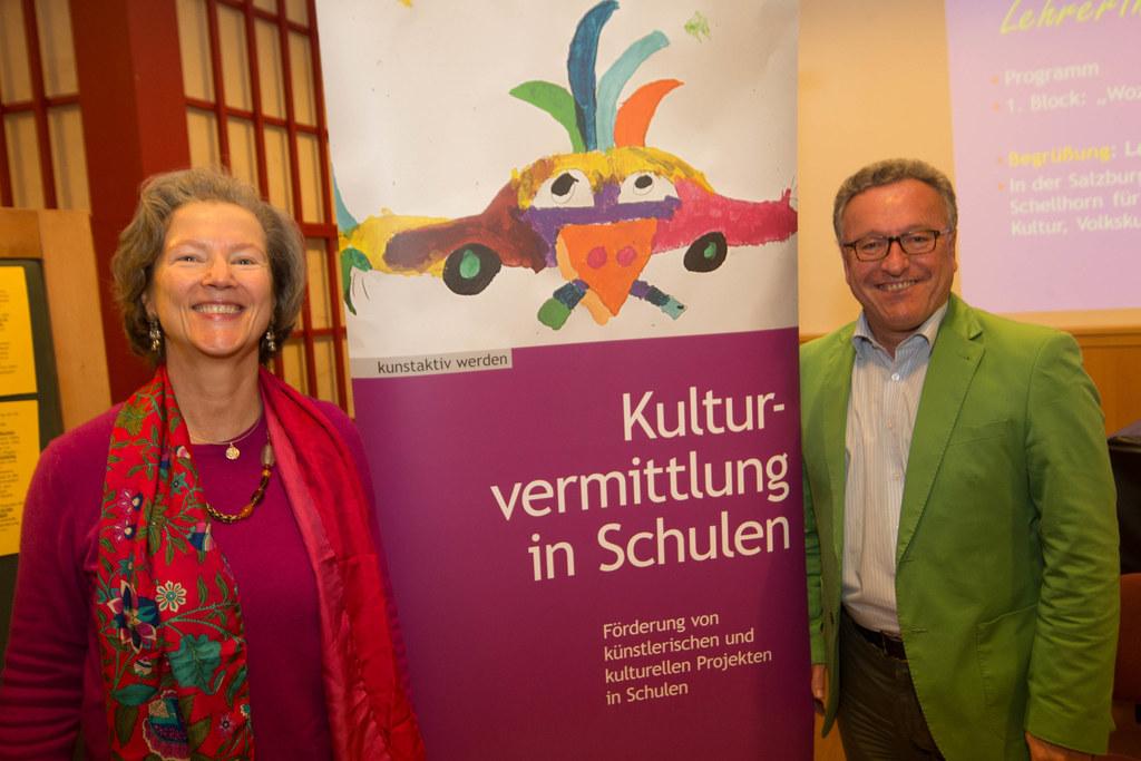 Dr. Maria Honsig-Erlenburg und Landesrat Dr. Heinrich Schellhorn