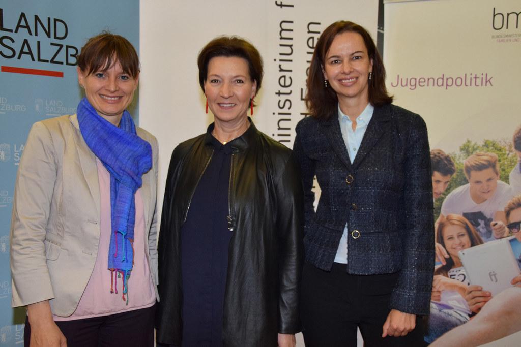 Landesrätin Mag. Martina Berthold, Bundesministerin Gabriele Heinisch-Hosek und ..