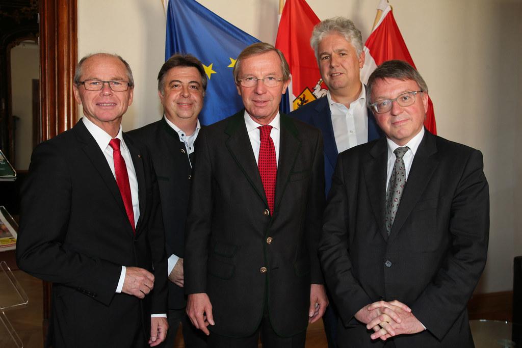 LH-Stv. Mag. Dr. Christian Stöckl, Peter Padourek Bürgermeister Zell am See, LH ..