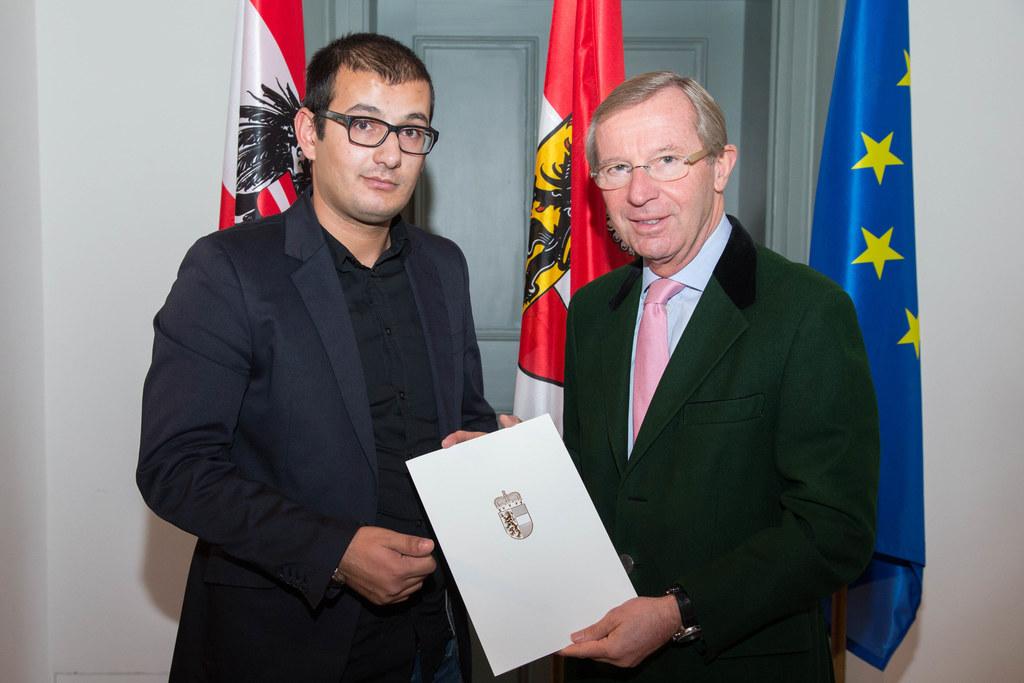 Staatsbürgerschaftsempfang von Landeshauptmann Dr. Wilfried Haslauer in der Neue..