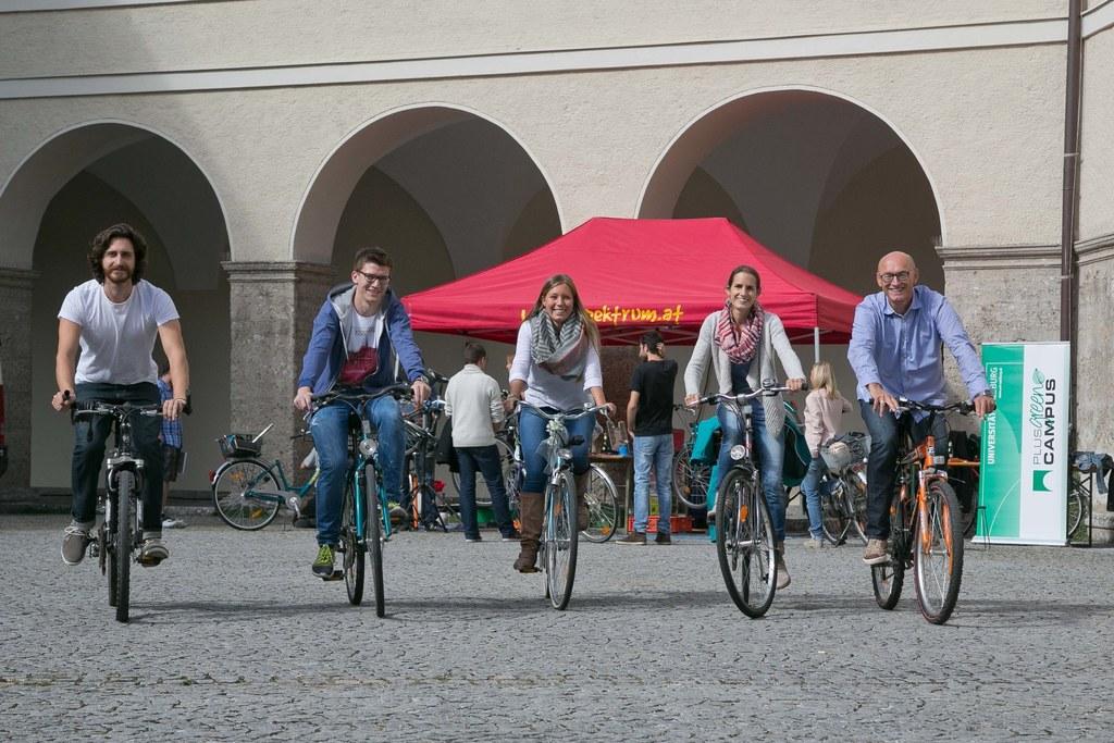 Radfahrerinnen und Radfahrer kommen in Salzburg auf ihre Kosten