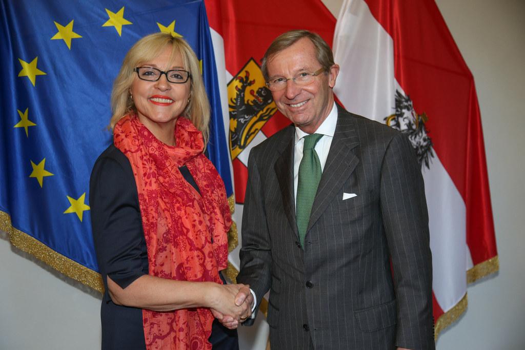 Europaministerin Dr. Beate Merk und Landeshauptmann Dr. Wilfried Haslauer