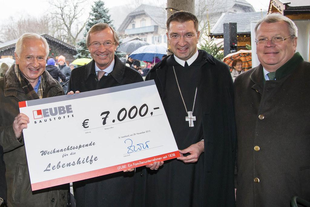 Gernot Tautschnig (Leube), Landeshauptmann Dr. Wilfried Haslauer, Erzabt Korbini..