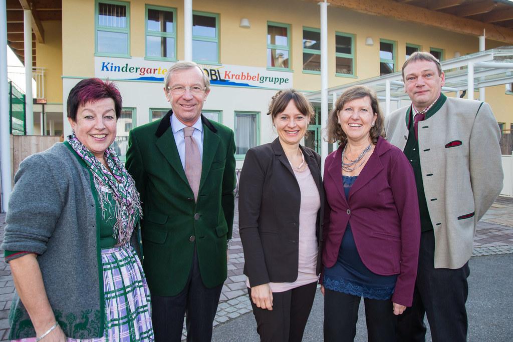 Christine Wolfsgruber (Vizebürgermeisterin), Landeshauptmann Dr. Wilfried Haslau..