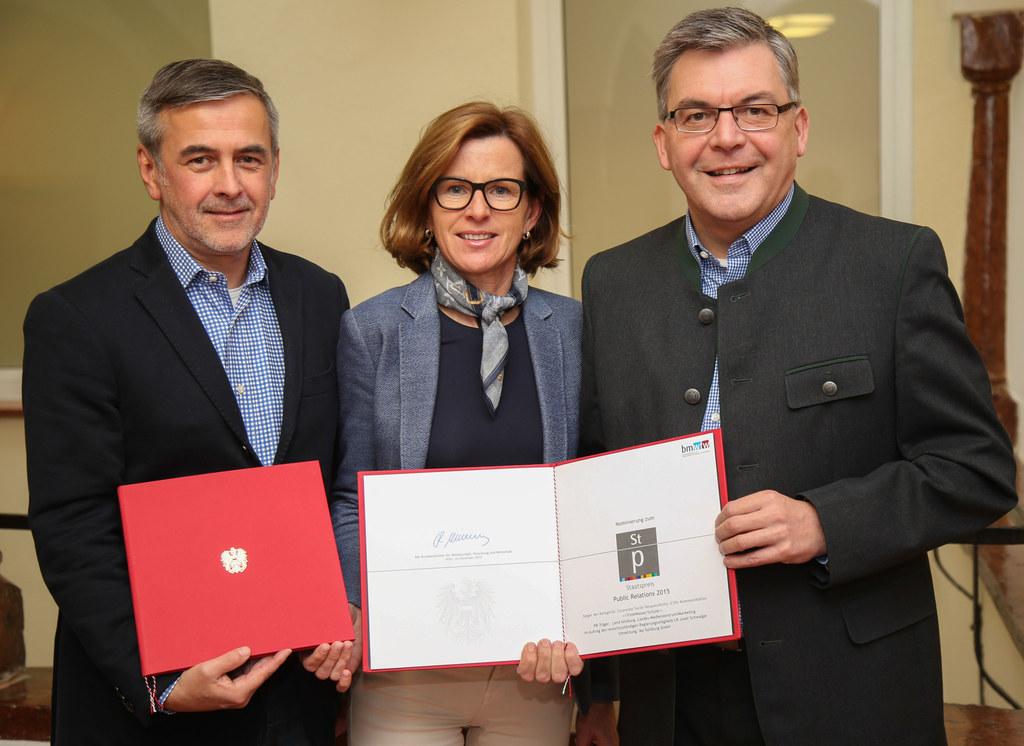 Dr. Andreas Windischbauer ikp-Leiter Büro Salzburg, Bernadette Ennsmann Landes-M..