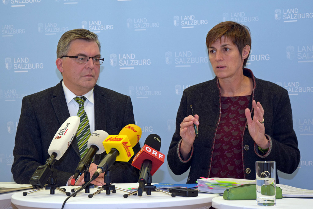 Landesrat Josef Schwaiger und Landeshauptmann-Stellvertreterin Astrid Rössler
