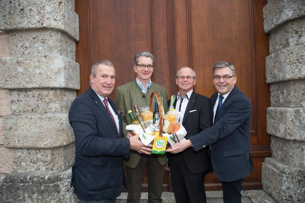 Paul Sungler (SALK), Andreas Schwaighofer (BIO Austria), Landeshauptmann-Stellve..