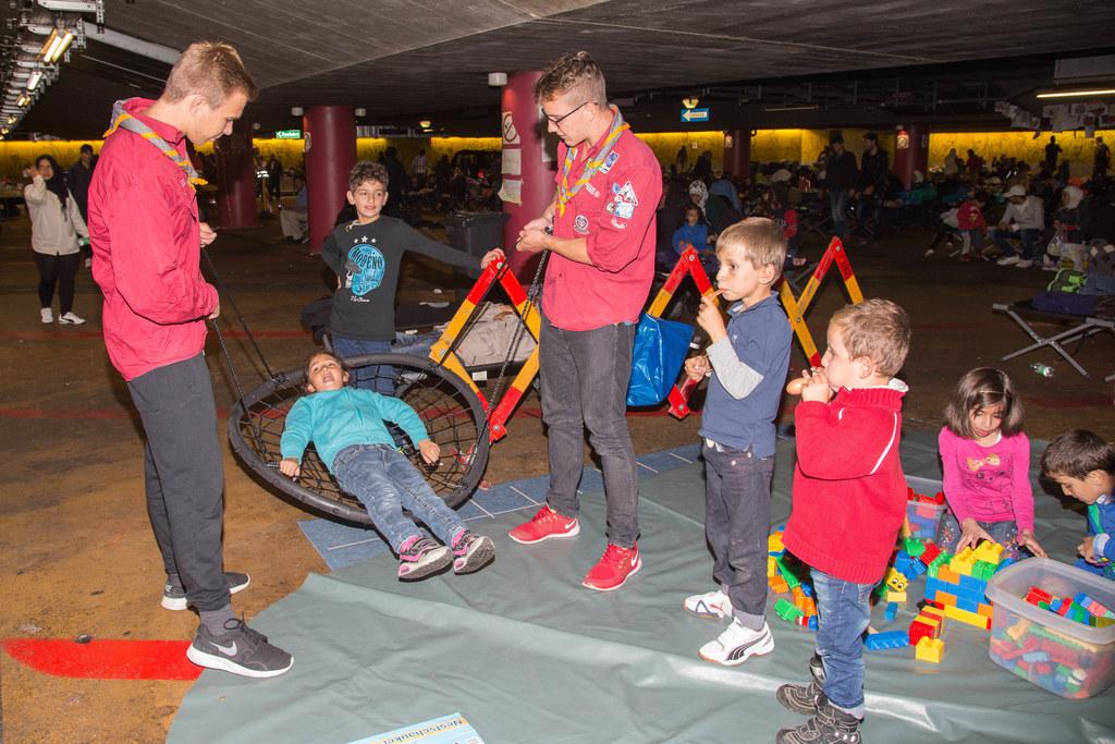 Salzburger Pfadfinder bei der Kinderbetreuung