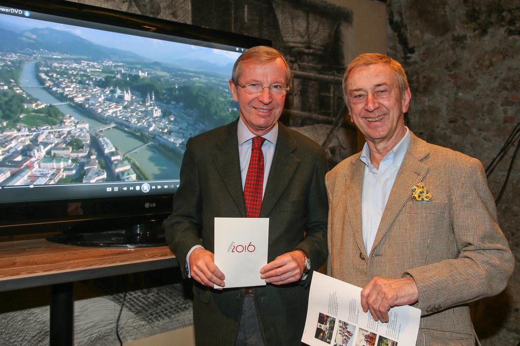 LH Wilfried Haslauer und Friedrich Urban GF der Salzburg 20.16 GmbH