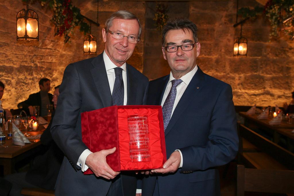 Landeshauptmann Wilfried Haslauer und Bundesratspräsident Sepp Saller