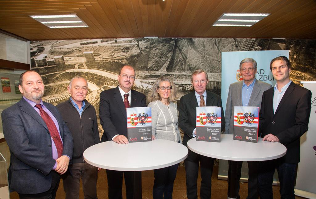 Alfred Höck, Guido Müller, Oskar Dohle (Landesarchiv), Karin Gföllner (LMZ), LH ..