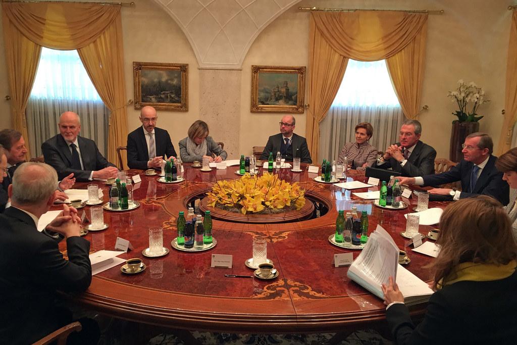 Arbeitsgespräche des slowenischen Außenministers Karl Erjavec mit Salzburgs Land..