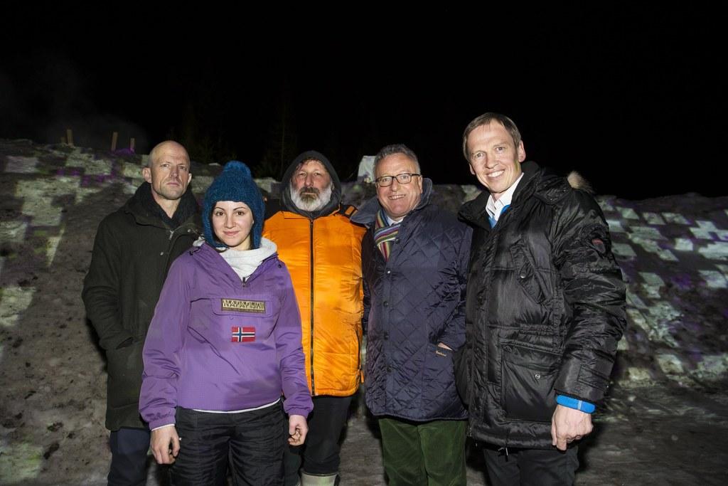 Theo Deutinger, Eliza Mante, Heinz Riegler, Landesrat Heinrich Schellhorn und Th..