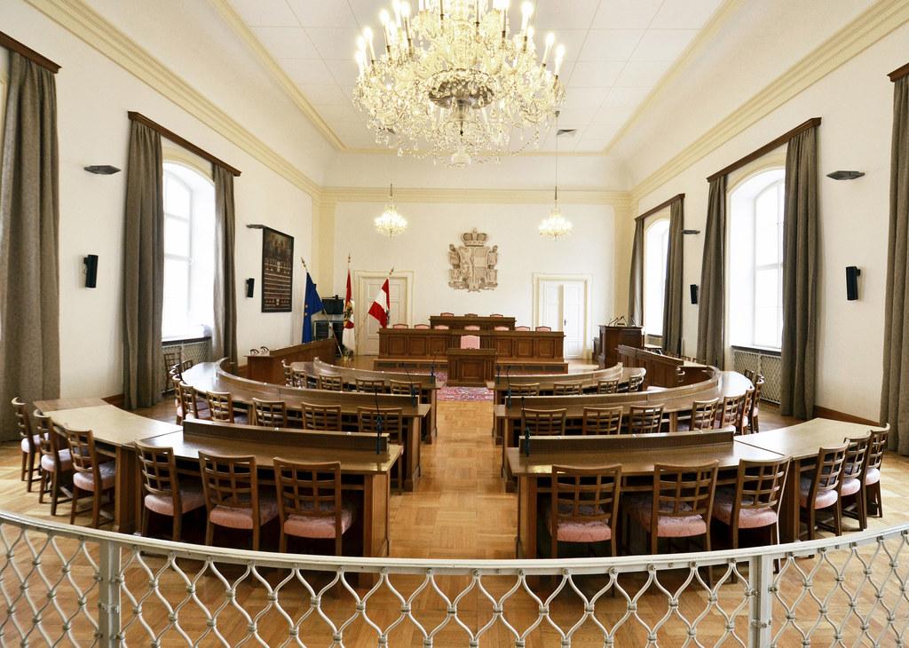 Der Sitzungssaal des Salzburger Landtags