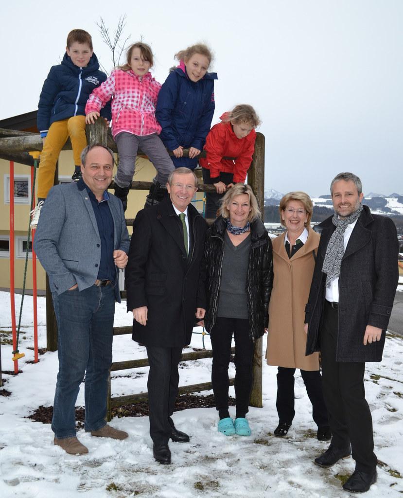 Wolfgang Arming, LH Wilfried Hauslauer, Sabine Wojak, Bgm. Monika Schwaiger und ..
