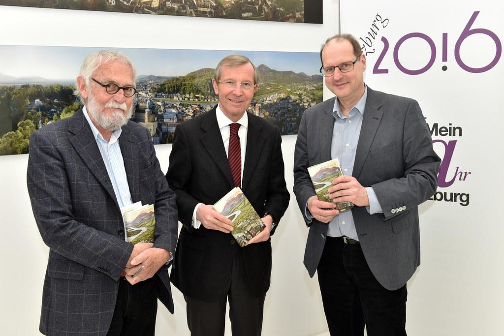 Jochen Jung, Jung und Jung Verlag, Landeshauptmann Dr. Wilfried Haslauer und Arn..