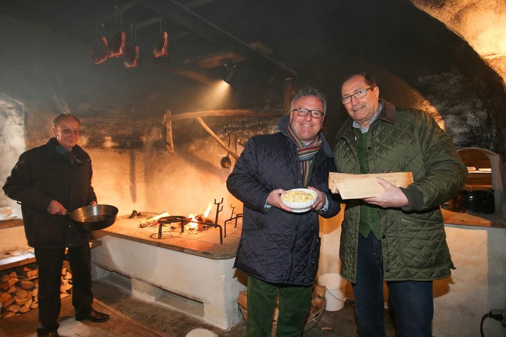 Axel Wagner Vorsitzender des Förderverreins, LR Heinrich Schellhorn und Michael ..