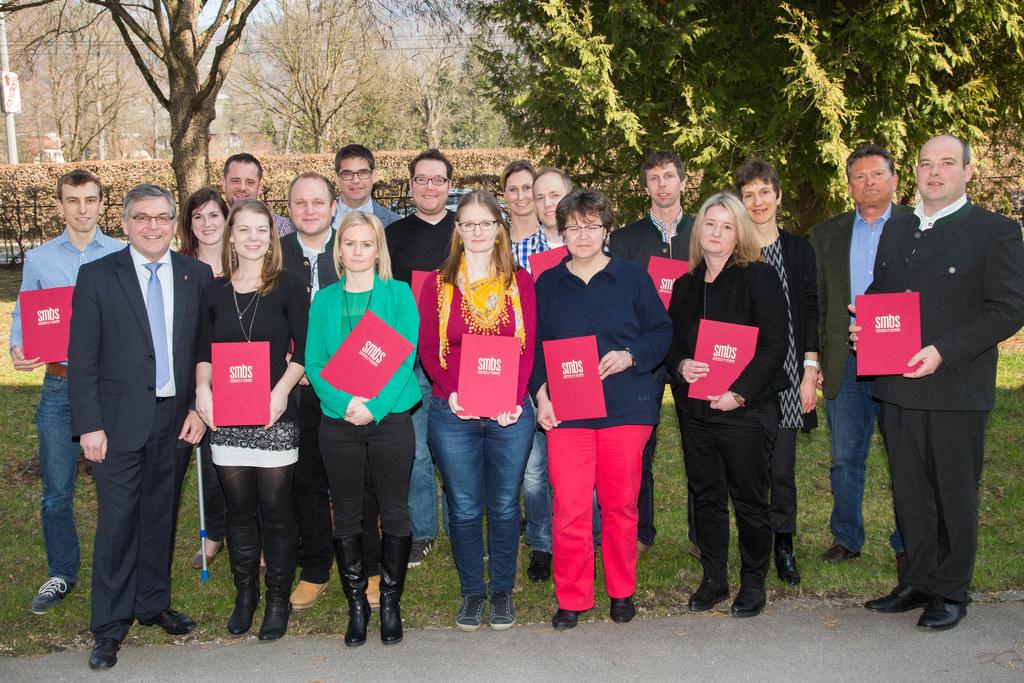 Verleihung der Dekrete der Verwaltungsakademie des Landes Salzburg und der SMBS