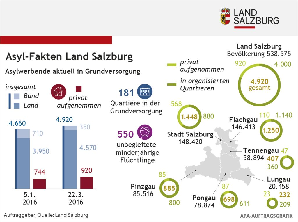 Grafik zum Thema Asyl im Land Salzburg