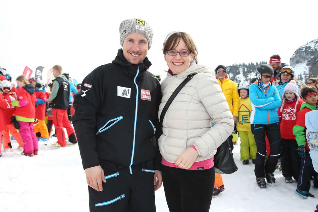Im Vorjahr besuchte Marcel Hirscher mit Landesrätin Martina Berthold die Aktion ..