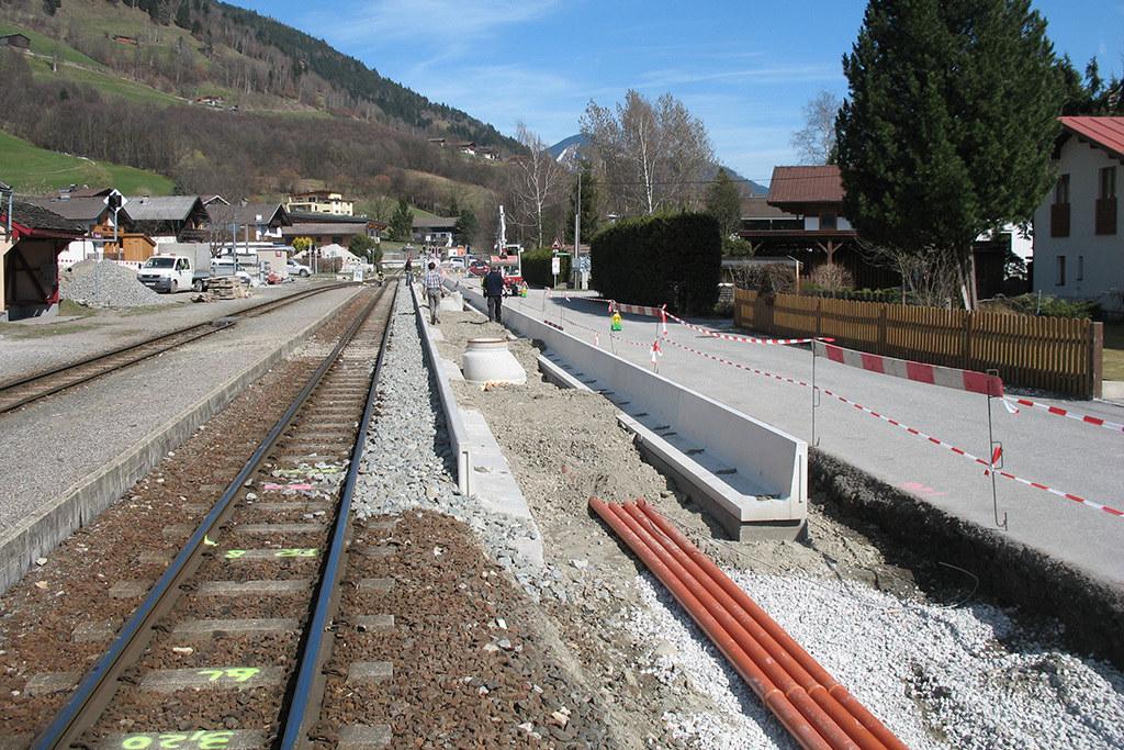 Umbauarbeiten am Bahnhof Piesendorf