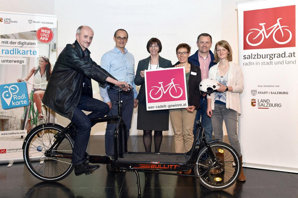 Peter Weiß (Radkoordinator Stadt), Martin Neuwirth (GKK), Irmgard Moser (SALK), ..