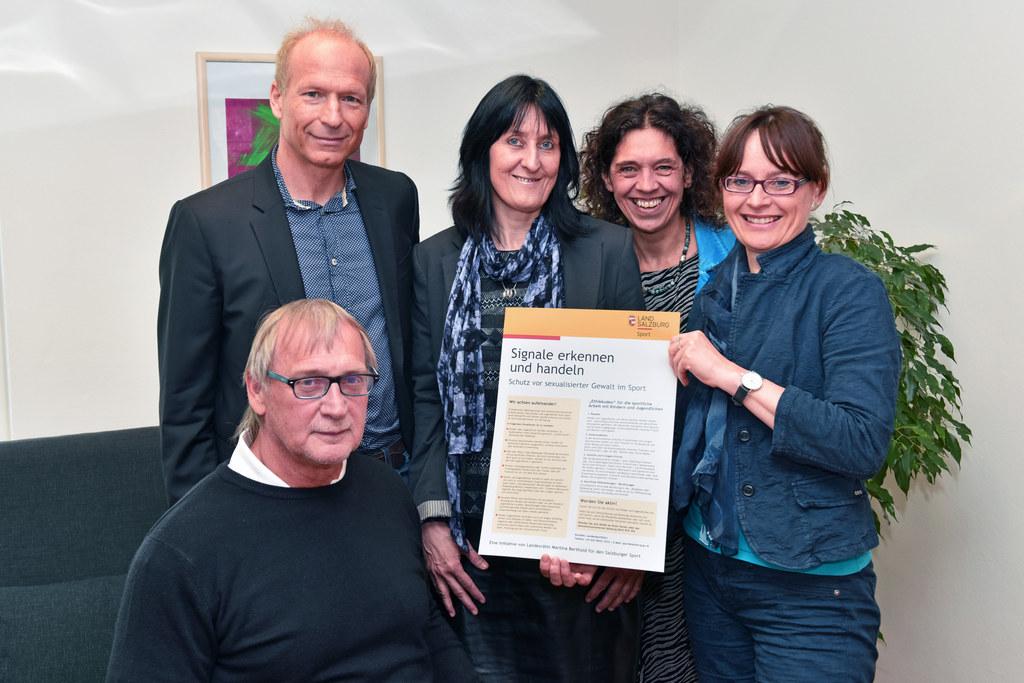 Walter Pfaller,Thomas Wörz, Chris Karl, Teresa Lugstein und Landesrätin Martina ..