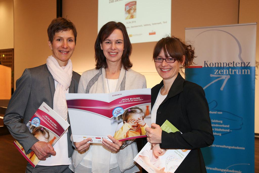 Lucia Eder Päd. Leiterin ZEKIP, Ministerin Sophie Karmasin und LR Martina Bertho..