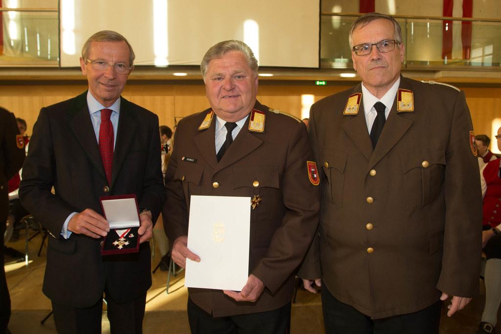 Landeshauptmann Wilfried Haslauer, Hermann Kobler und Leo Winter