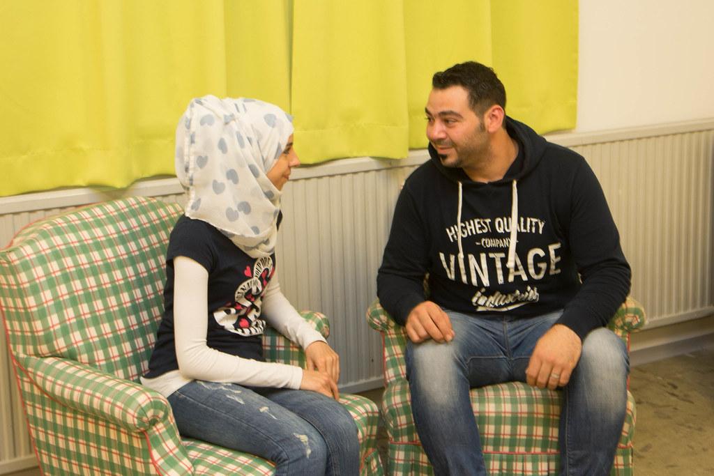 Tag der offenen Tür im Flüchtlingsquartier in Kasern