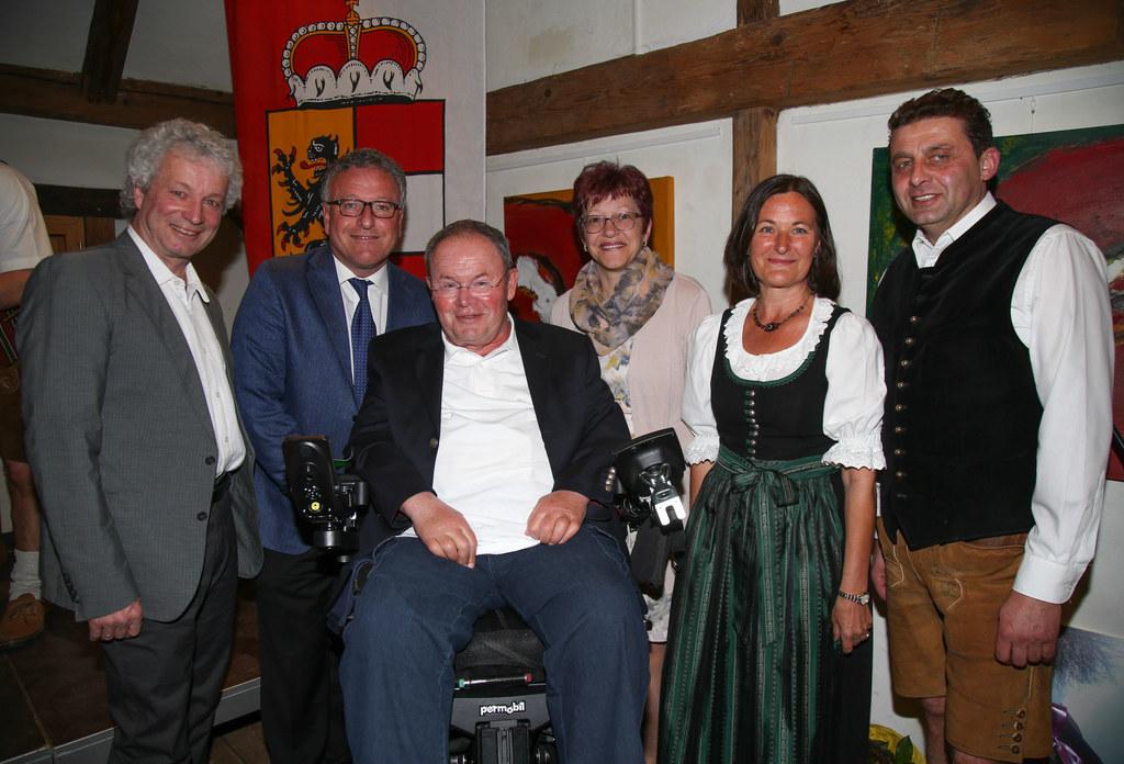 Vizebürgermeister Karl Oberascher, Landesrat Heinrich Schellhorn, Organisator un..