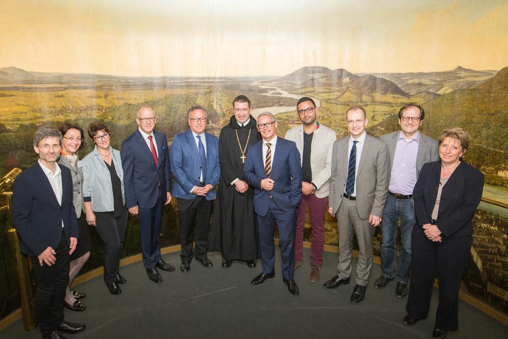 Regierungsräte aus St. Gallen zu Besuch im Panoramamuseum des Salzburg Museum