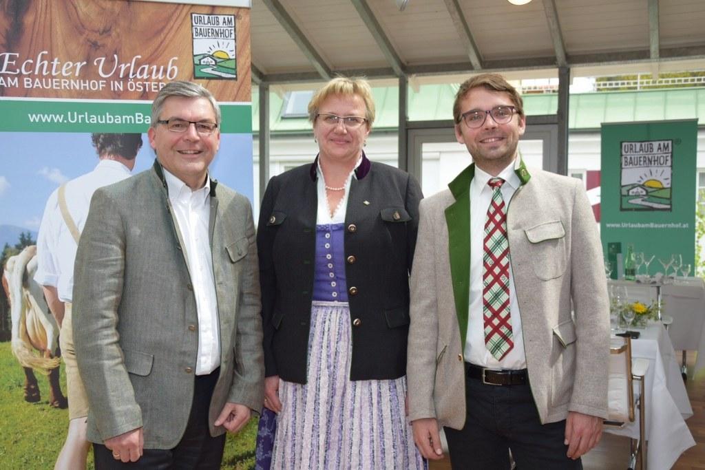 Landesrat Josef Schwaiger, Augustine Lienbacher (Obfrau Urlaub am Bauernhof Salz..