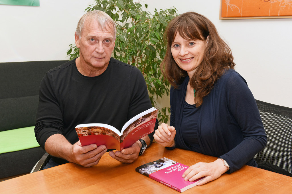 Walter Pfaller und Landesrätin Martina Berthold