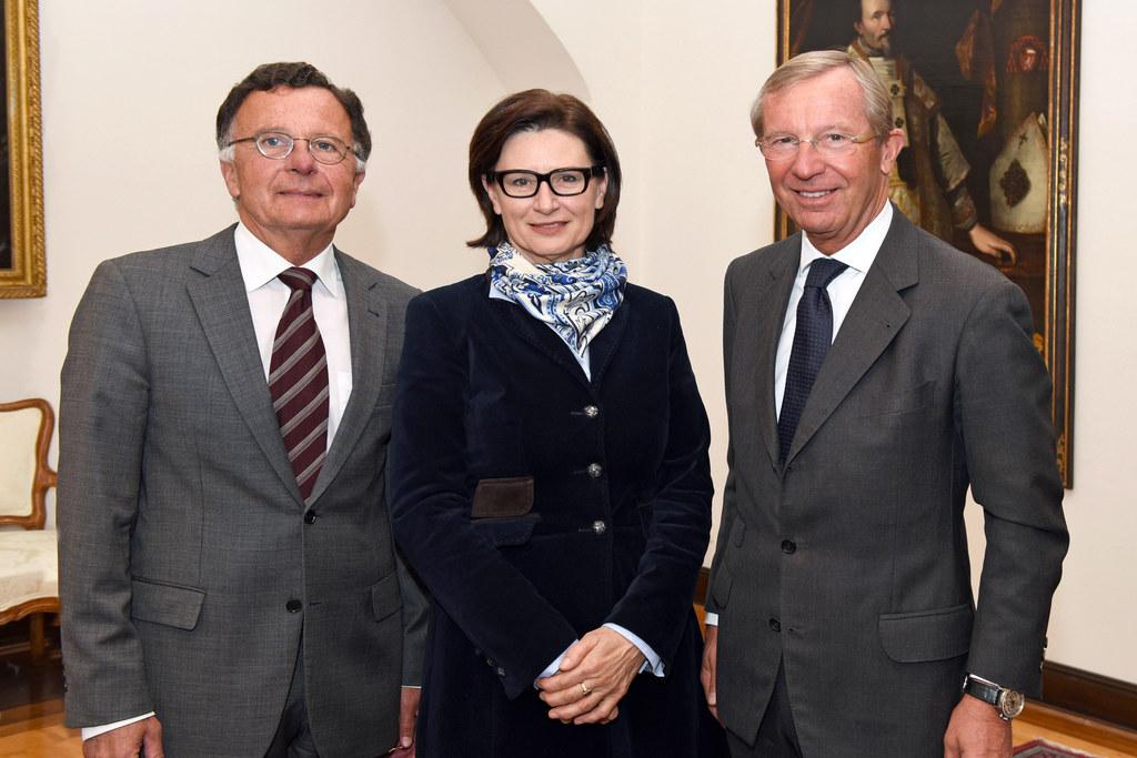 Arno Gasteiger, Ingrid König und Landeshauptmann Wilfried Haslauer