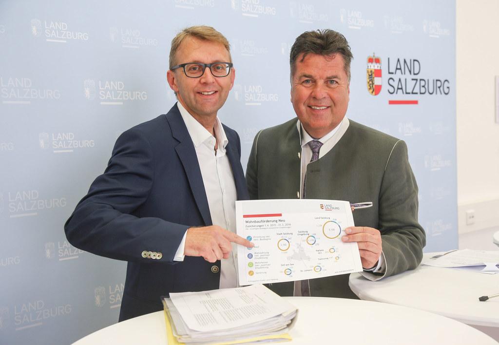 Neues von der Wohnbauförderung präsentierten Herbert Rinner, Leiter Stabstelle W..