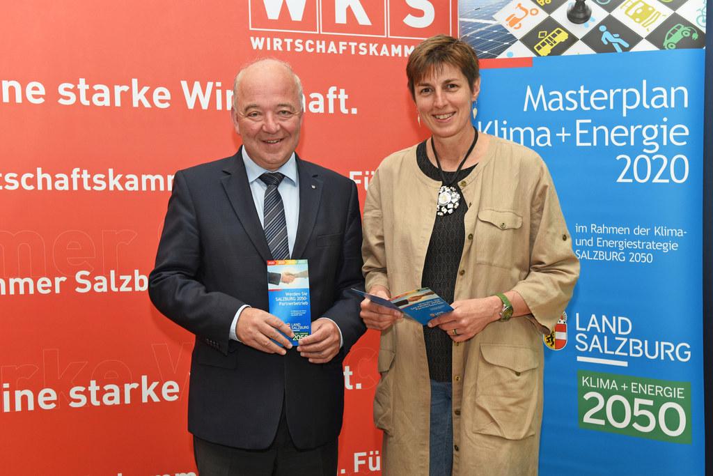 Konrad Steindl, Präsident der Salzburger Wirtschaftskammer und Landeshauptmann-S..