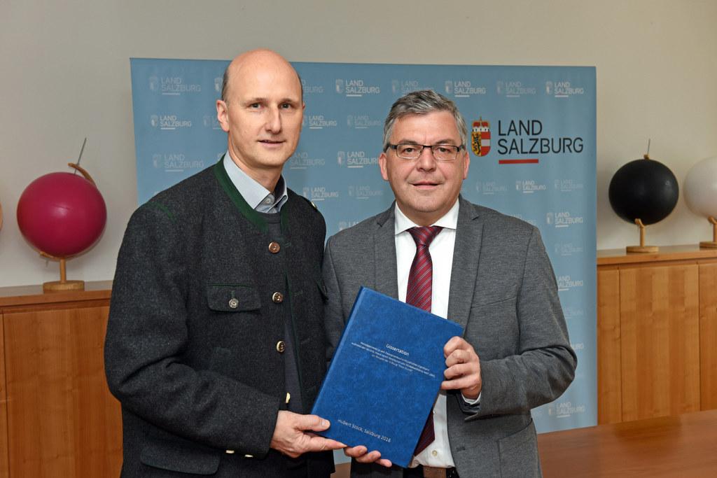 Hubert Stock und Landesrat Josef Schwaiger