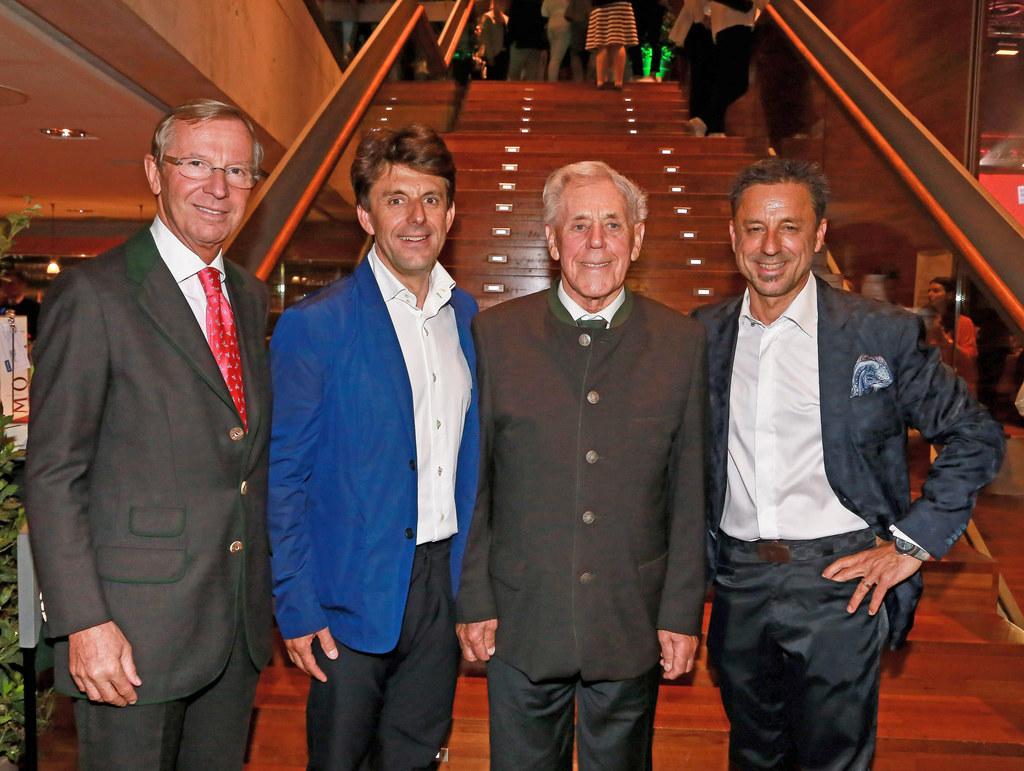 LH Wilfried Haslauer, Bernhard Bründl, Hans Bründl und Christoph Bründl