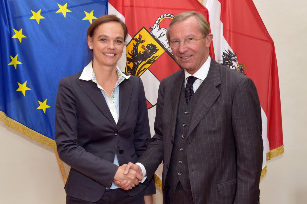 Besuch BM Hammerschmid, BM Sonja Hammerschmid und Landeshauptmann Wilfried Hasla..
