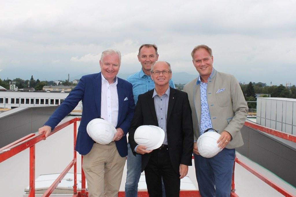 Florian Kreibich, Friedrich Holzer, LHStv. Christian Stöckl und Michael Wagner