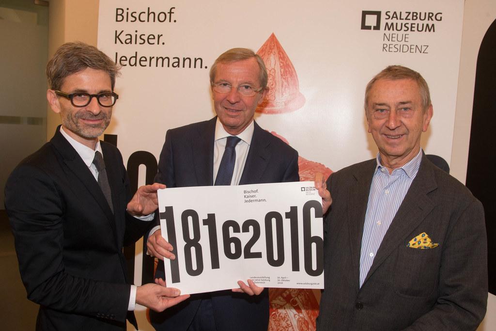 Direktor Martin Hochleitner, Landeshauptmann Wilfried Haslauer und Salzburg 20.1..