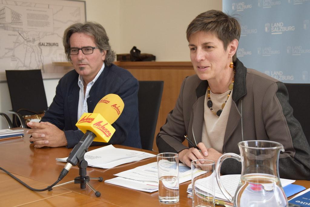 Landeshauptmann-Stellvertreterin Astrid Rössler und Alexander Kranabetter, Refer..